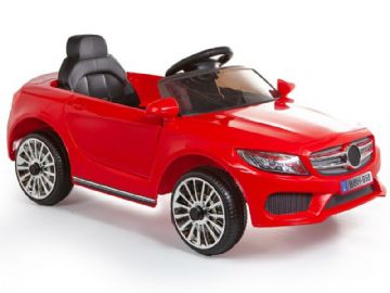 Merc C Class Style 12V Battery Powered Kids Ride on Car Red with Parental Control